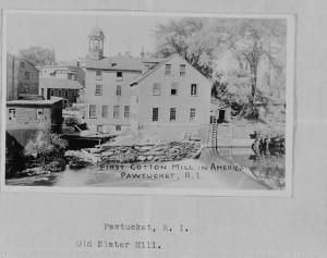 Slater Mill, Pawtucket, Providence County, RI, postcard.