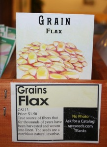 Seeds to grow your own flax. Moo Dog Knits Magazine.