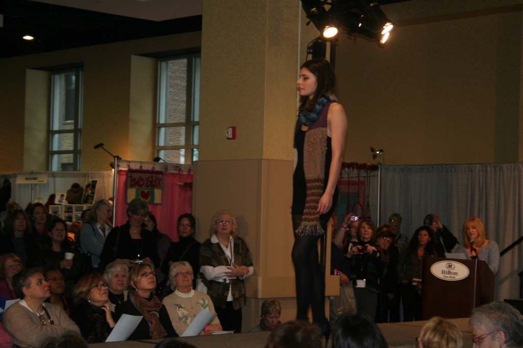 Vogue Knitting Live fashion show -2011 New York City. Moo Dog Knits Magazine photo.