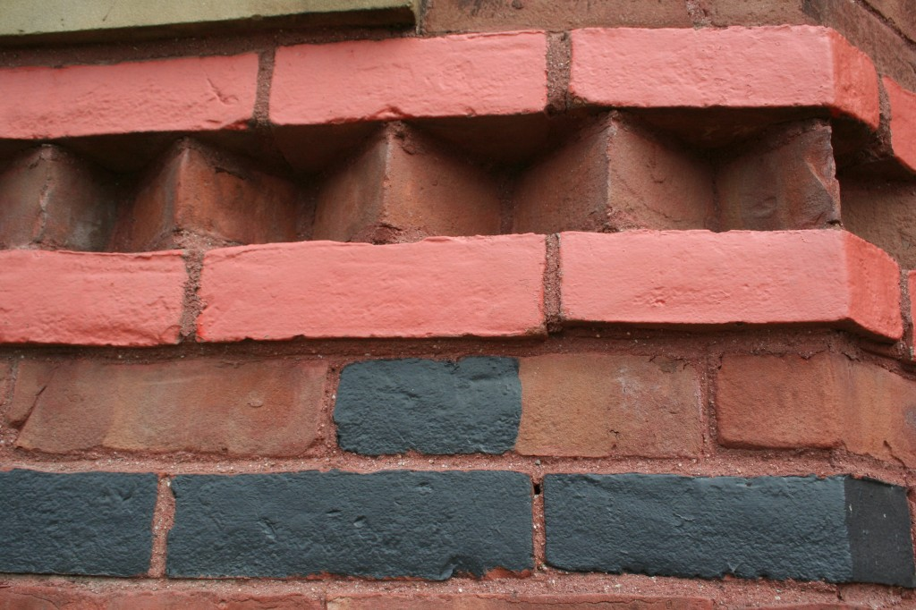 Brick detail of Mark Twain home in Hartford. Photo Moo Dog Knits.