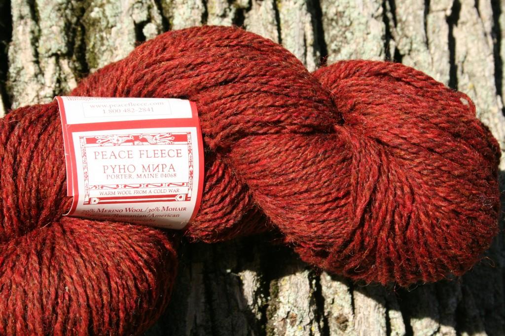 Sheplova Mushroom Peace Fleece yarn -  think of the company as an international human relations force using fiber as a how-do-you-do.