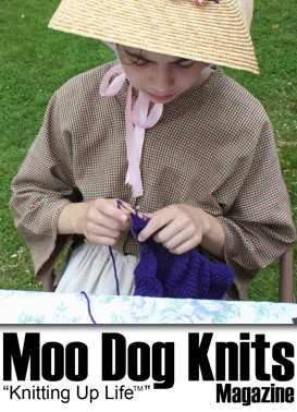 Knitting up Life with Moo Dog Knits Magazine.