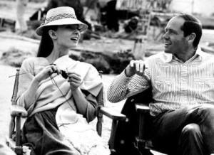 Classic beauty, Audrey Hepburn, knitting.