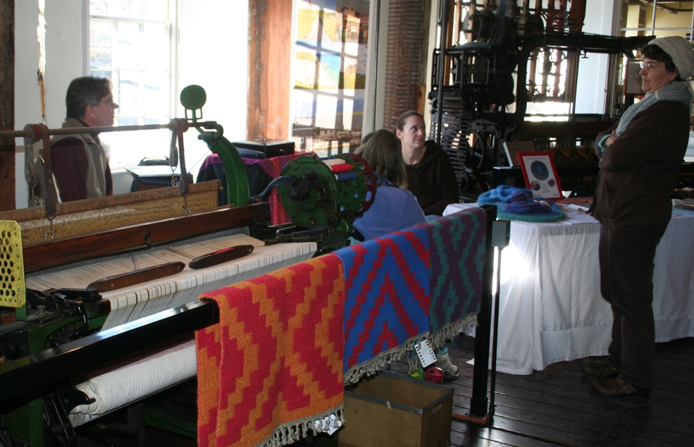 Inside Slater Mill is a community of people who love to make things. Photo by Chris Brunson for Moo Dog Knits Magazine.