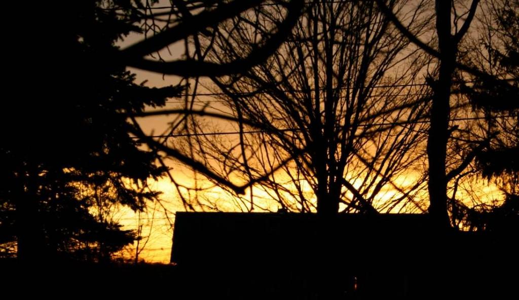 House sunset.