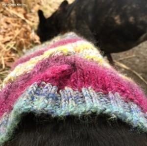 Detail of color knit.