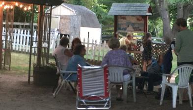 A group of knitters at The Book Barn Main Barn.