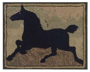 Horse rug wool and cotton.