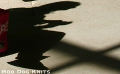 Knitter's shadow.