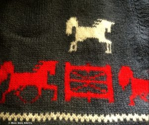 Knitted horse design sweater