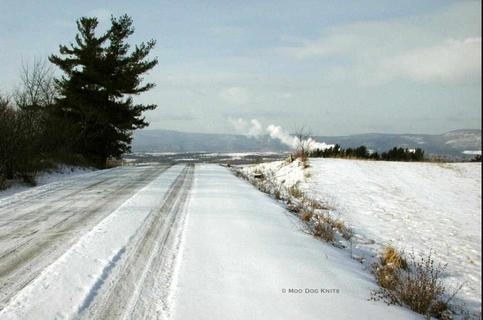 Snow road in Vermont
